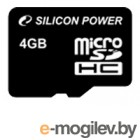 microSD 4Gb Class4 Silicon Power SP004GBSTH004V10