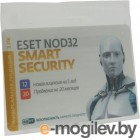 ��������� ESET NOD32 Smart Security ���. ����� � ��������������� �����, �������� �� 1 ��� �� 3 ��