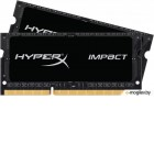 HX316LS9IBK2/16 Kingston 16GB 1600MHz DDR3L CL9 SODIMM (Kit of 2) 1.35V  HyperX  Impact Black