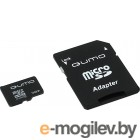 Qumo (QM16MICSDHC10) microSDHC 16Gb Class10 + microSD--SD Adapter