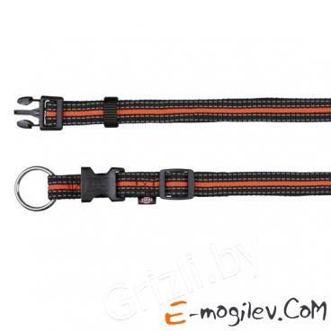 Trixie 20600 Fusion Collar (S-M, Black-Orange)