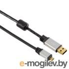 Hama A-microB (m-m) 1.8m USB2.0 позолоченные контакты двойное экранирование черный (H-53748)
