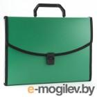 Бюрократ BPP6Lgrn 6 отделений с окантовкой А4 пластик 0.7мм зеленый