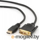 Кабель HDMI-DVI 0.5m Gembird CC-HDMI-DVI-0.5M