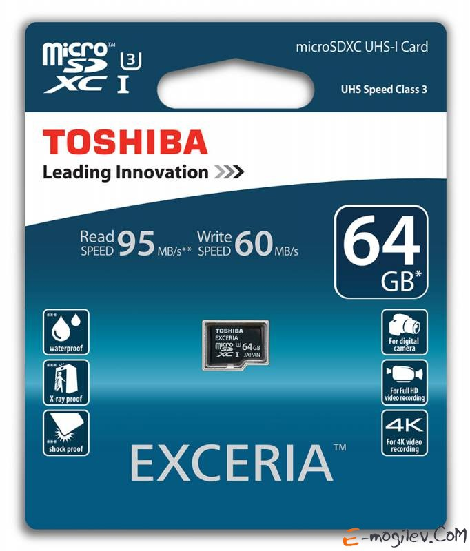 Toshiba microSDHC 64Gb Class10 SD-CX64UHS1(6A + adapter