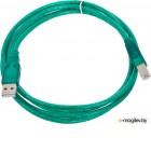 Кабель USB 2.0 AM/BM 1.8m Aopen, соединительный, прозрачная изоляция (ACU201-1.8MTG)