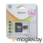 Apacer microSDHC 16Gb Class4 AP16GMCSH4-R + adapter