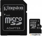Kingston SDC10G2/64GB microSDHC 64Gb UHS-I U1 Class10  + microSD-->SD Adapter