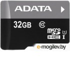 Карты памяти. A-Data microSDHC 32Gb Class10 AUSDH32GUICL10-RA1 + adapter Ultra speed