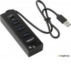 Orient JK-330, USB3.0 HUB 3 Ports + SD/microSD CardReader, выкл., черный