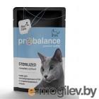 ProBalance 85г Sterilized корм д/стерил кошек и кастрир котов (пауч)