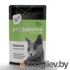 ProBalance 85г Sensitive корм д/кош чувствительное пищеварение (пауч)
