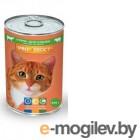 PROхвост консервированный корм для кошек  415 гр. мясное ассорти