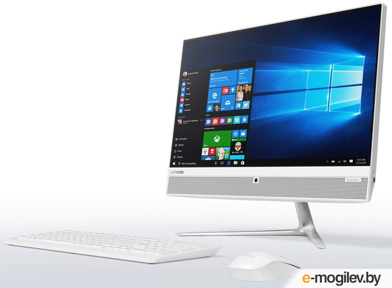 Lenovo IdeaCentre 510-23ISH 23 Full HD i3 7100T/4Gb/1Tb 7.2k/DVDRW/Windows 10/GbitEth/WiFi/BT/клавиатура/мышь/Cam/белый 1920x1080
