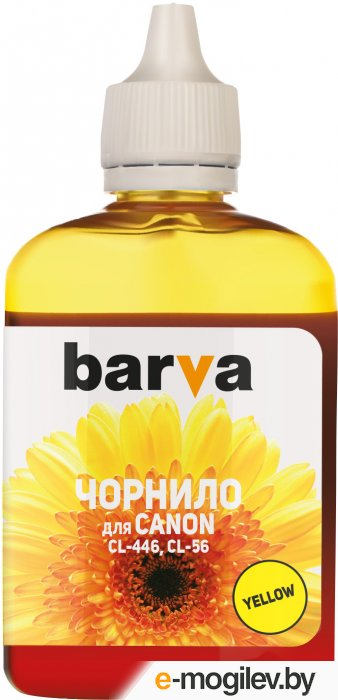 Чернила BARVA (C446-440) для CANON E404/MG2440/IP2840, 90мл, <Yellow>