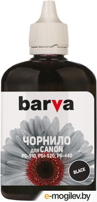Чернила BARVA (C520-296) для CANON MG2140/MP230/MP280, 90мл, <Black>