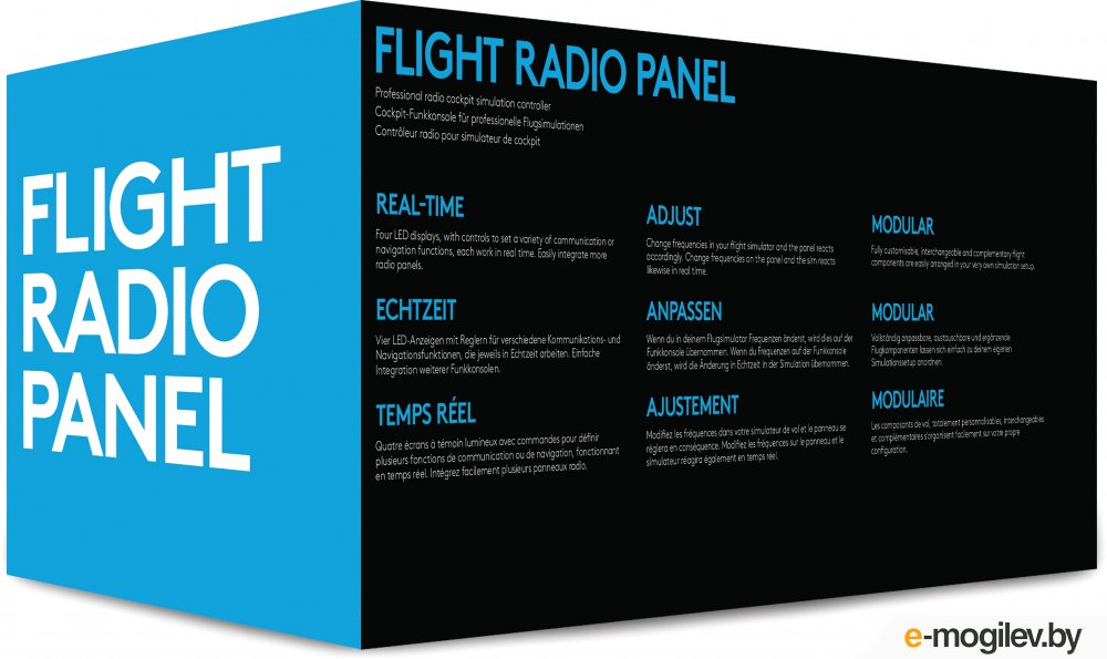 Приборная панель Logitech G Saitek Pro Flight Radio Panel Black USB 945-000011