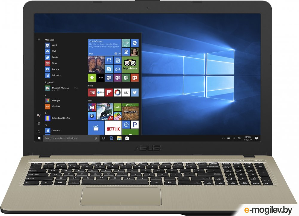 Нетбуки amp ноутбуки ASUS X540NA-GQ149 90NB0HG1-M02840 Intel Celeron N3450 1.1 GHz/2048Mb/500Gb/No ODD/Intel HD Graphics/Wi-Fi/Bluetooth/Cam/15.6/1366x768/Endless